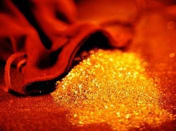 Золотая пыль в мешочке
