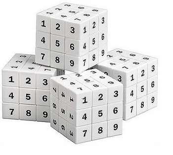Три кубика с цифрами
