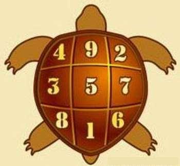 Цифры на панцире черепахи