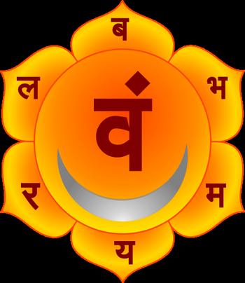 Обозначение чакры свадхистана
