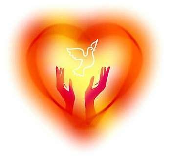 Сердечко и руки выпускающие голубя