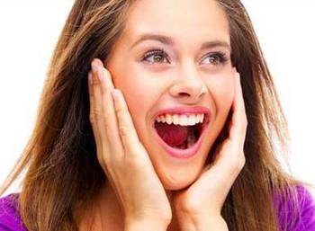 Девушка приятно удивлена