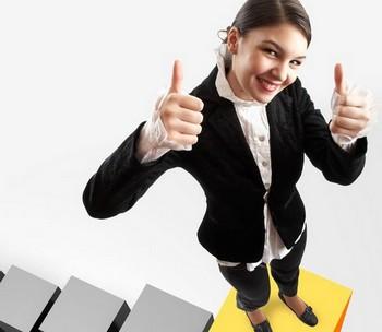 Девушка на вершине карьерной лестницы
