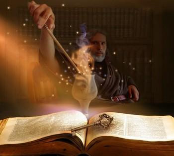 Колдун и магическая книга