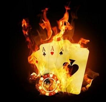 Игральные тузы в огне
