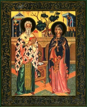 Икона святого Киприана и Устиньи