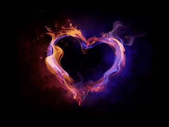 Сердечко из дыма