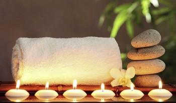 свечи и камни для медитации