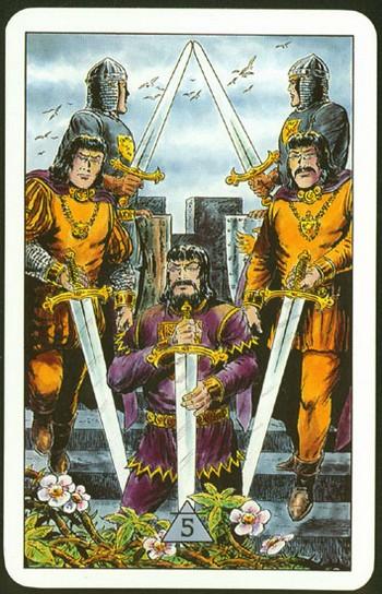 обозначение карты 5 мечей