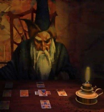 колдун и карты