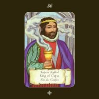 Основное обозначение карты Таро – Король Чаш