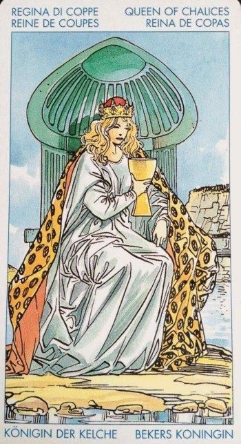 Королева Кубков с мастью мечей