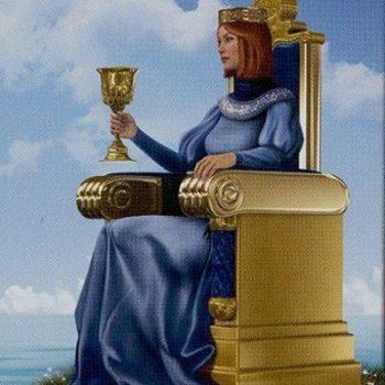 Обозначение карты Таро с Королевой Кубков