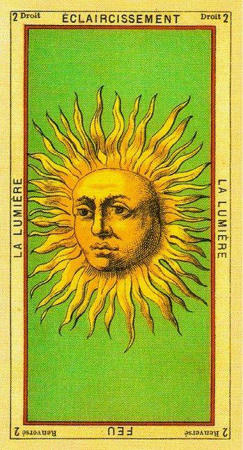 карта Солнце в раскладах Таро